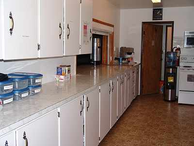 Bearberry Community Hall Kitchen cupboards